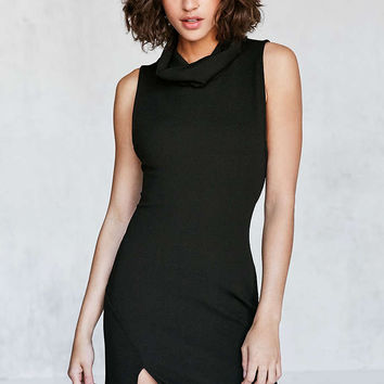 Silence + Noise Textured Cowl-Neck Bodycon Mini Dress - Urban Outfitters