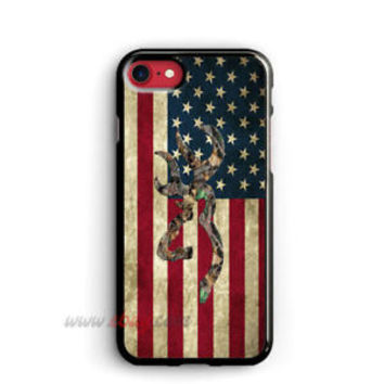Browning Deer iphone 8 Plus Cases Flag Samsung Cases Amrican Flag iphone X Cases