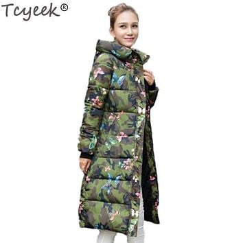 Women Thick and Warm Printed Puffer Jacket
