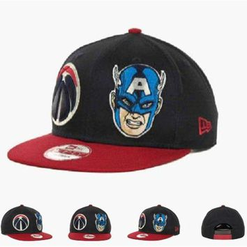 DCCKUN7 Washington Wizards Nba Cap Snapback Hat - Ready Stock