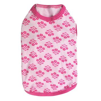 Pink Flower Dog Top