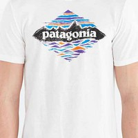 Patagonia Wood Stamped Tee- White