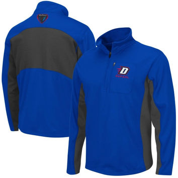 DePaul Blue Demons Boulder Half Zip Jacket – Royal Blue