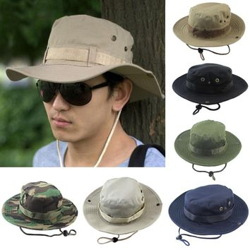 2018 bucket hats outdoor jungle military camouflage bob camo bonnie hat fishing camping barbecue cotton mountain climbing hat