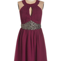 ModCloth Mid-length Sleeveless A-line Poised for Joy Dress