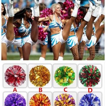 Free Shipping Rose mix Gold All Star first single paragraph cheerleading pom pon Cheerleading cheer supplies#1838