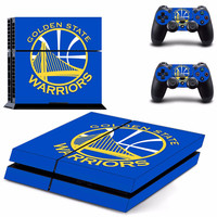 Golden State Warriors Vinyl Decal Skin For playstation 4 Console+2Pcs Stickers For ps4 Controllers