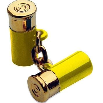 12 Gauge Cufflinks in Yellow by Bird Dog Bay - FINAL SALE