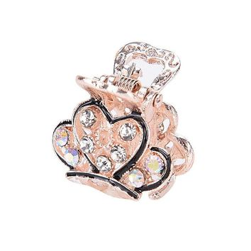 Lovely Mini Crystal Rhinestone Plastic Butterfly Hair Claw Jaw Clip Clamp Pin