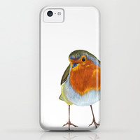 Winter Robin iPhone & iPod Case by Lynette Sherrard Illustration And Design