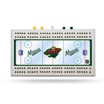 Minnesota Wild NHL Licensed Cribbage Board FREE US SHIPPING