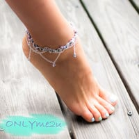 Summer Must Have Silver Blue Anklet