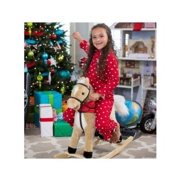 Charm Blonde Rocking Horse with Movement and Sounds! New Born, Baby, Child, Kid, Infant
