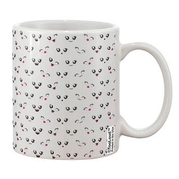 Kyu-T Faces AOP Printed 11oz Coffee Mug All Over Print by TooLoud