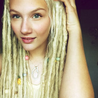 20, 18 inch, CUSTOM 100% Human Hair Dreadlock Extensions