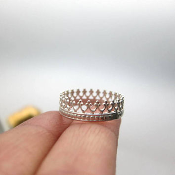 Tea time silver ring