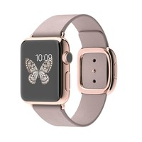 Apple Watch Edition 38mm 18-Carat Rose Gold Case with Rose Grey Modern Buckle - Small