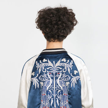 EMBROIDERED STUDIO BOMBER JACKET