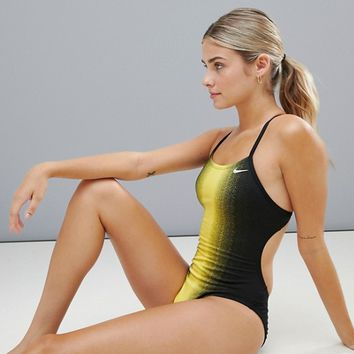Nike Fade Sting Cut Out Swimsuit at asos.com