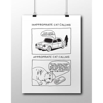 Inappropriate Catcalling vs. Appropriate Catcalling -- Poster