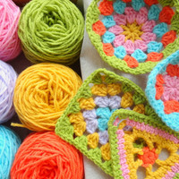 Yarn Knitting Yarns Granny Square Set in 6 Colors