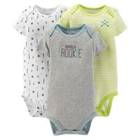 Just One You™Made by Carter's® Newborn Boys' 3 Pack Sports Bodysuits