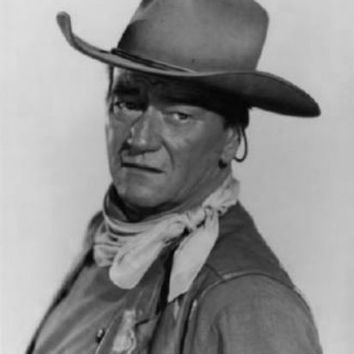 "John Wayne Poster Black and White Poster 24""x36"""