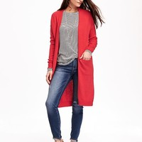 Relaxed Open-Front Long Sweater for Women | Old Navy