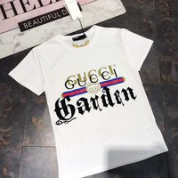 Gucci Women Embroidery Print Shirt Top Blouse