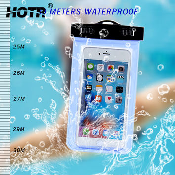HOTR Universal Waterproof Case For Xiaomi red mi note3 3s xiaomi 5 Swimming Cover Case For iPhone 5s 6 7 For Samsung Huawei