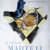 Art Deco French Ad-Martell Cognac 1951