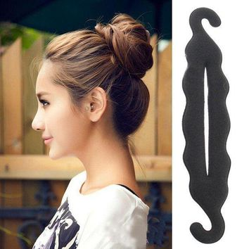 PEAPGC3 Hair Ornaments 24cm Hair Accessories for Women Magic Foam Sponge Hairtwist Donut Quick Messy Bun Updo Adornos Para El Pelo