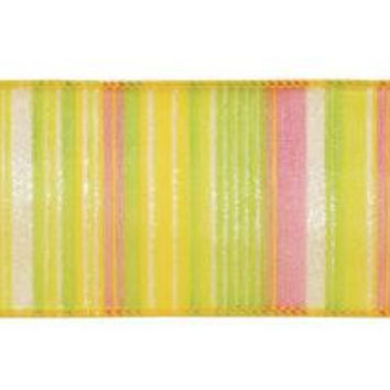Easter Ribbon - Multi Color Striped Design