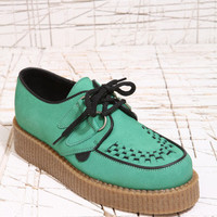 Underground Shoes Green & Toffee Creepers at Urban Outfitters