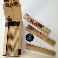 1 Pack of Raw Foot Long Rolling Paper + Beamer Sticker