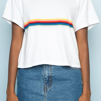 Aleena Rainbow Top - Tops - Clothing