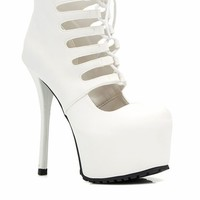 Dare Devil Faux Leather Platform Heels