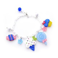 [Aznavour] Lovely & Cute Sweet Snack Bracelet / White #B068.
