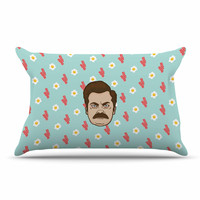 "Juan Paolo ""Give Me All Of The Bacon And Eggs"" Parks & Recreation Pillow Case"