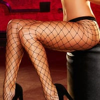 Black Diamond Net Pantyhose