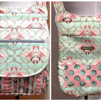 Made to Order CrossBody, Small Messenger, Adjustable Strap, Purse, Shoulder bag, Pockets