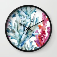Sea Life Pattern 02 Wall Clock by Aloke Design