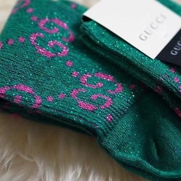 GUCCI Lurex interlocking G socks