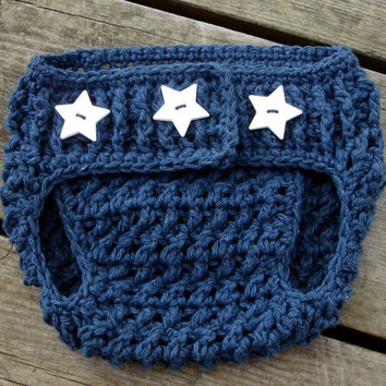 Crochet Pattern for Unisex Stars and Stripes Diaper Cover -  size newborn and 0-6 months - Welcome to sell finished items