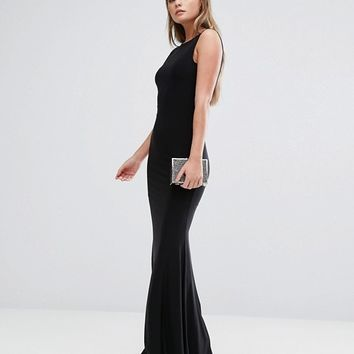 Club L Deep Plunge Back Maxi Dress at asos.com
