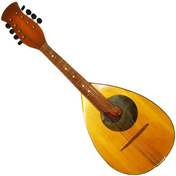 Rare Old Russian Mandolin Guitar 8 String, Original Folk Musical Instrument (416)