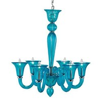 Currey & Co Giustina Blue Chandelier