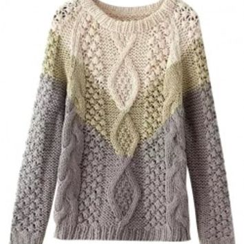 Contrast Color Knitwear