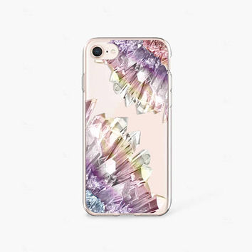 Crystal Print Phone Case iPhone 7 Case Clear Rubber iPhone 8 Case iPhone 7 Plus Case iPhone X Case Samsung Galaxy S8 iPhone 8 Case Clear