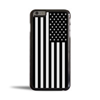 Black & White American Flag Case for Apple iPhone 6 Plus